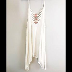 💕 Cream Boho trapeze top💕
